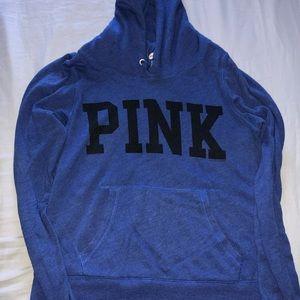 PINK royal blue pull over hoodie